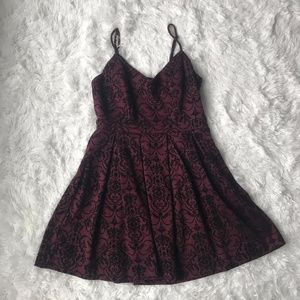 Ixia Burgundy Fit and Flare Mini Dress Size Small